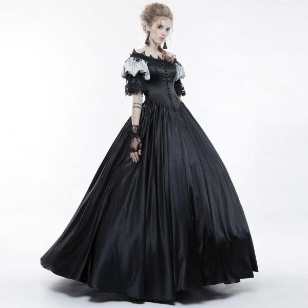 Gothic A-Linie Hochzeitskleid in viktorianischem Style