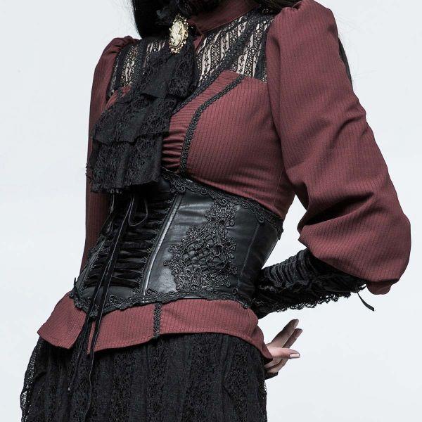Viktorianischer Taillengürtel mit Häkelspitze Ornament