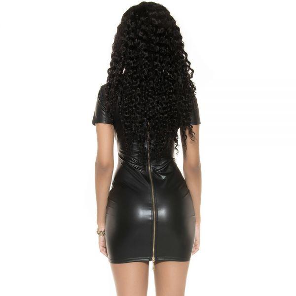 Wetlook Minikleid mit Reißverschluß am Rücken