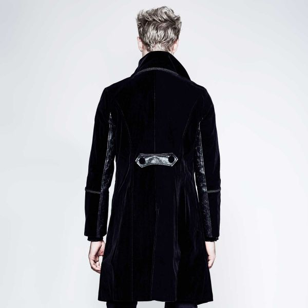 Schwarzer Samt Gehrock in viktorianischem Look