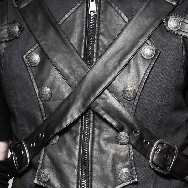 Weste mit Stehkragen im Warrior Style mit Riemen