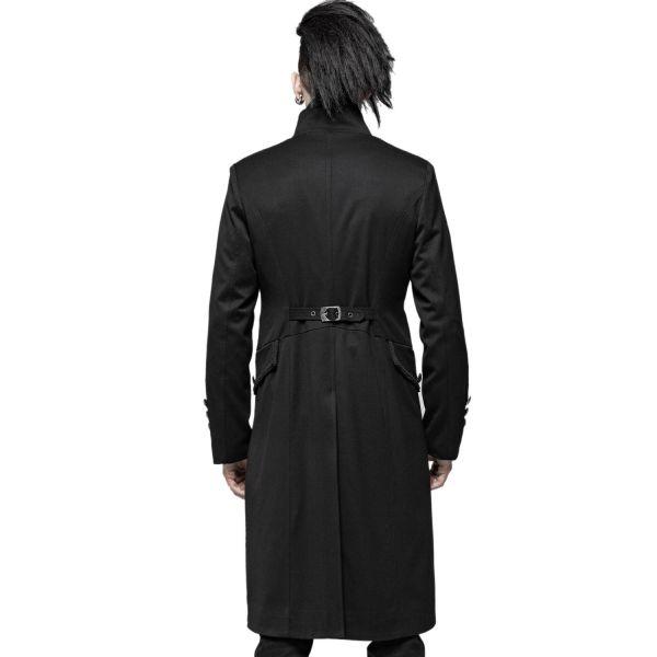 Gothic Gehrock im Uniform Look mit Häkelspitze