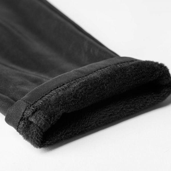 Lederlook Leggings mit Bondage Riemen gefüttert
