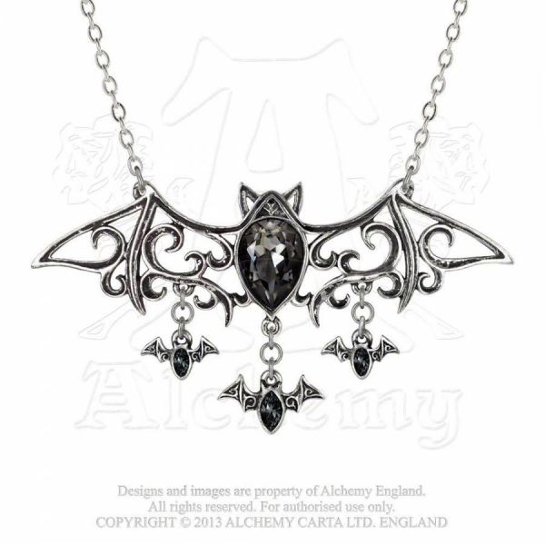 Fledermaus Halskette mit Kristallen - Viennese Nights