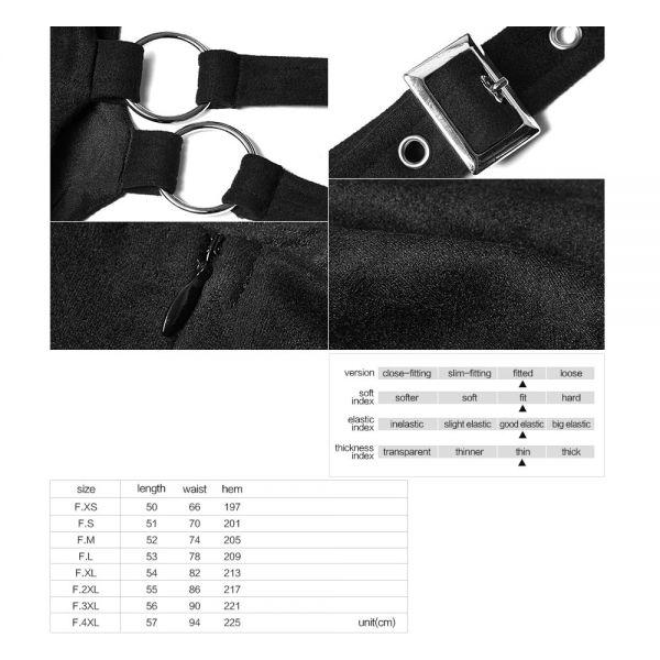 Glocken Minirock mit Trägern in Wildleder-Optik