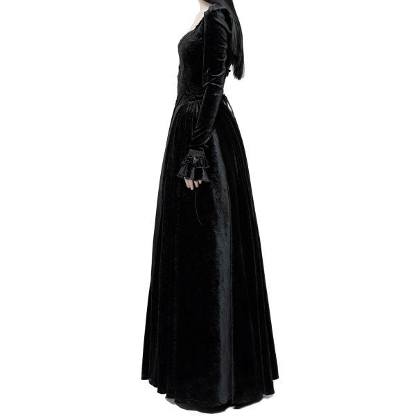 Viktorianisches Corsagen Ballkleid im Jacquard-Look