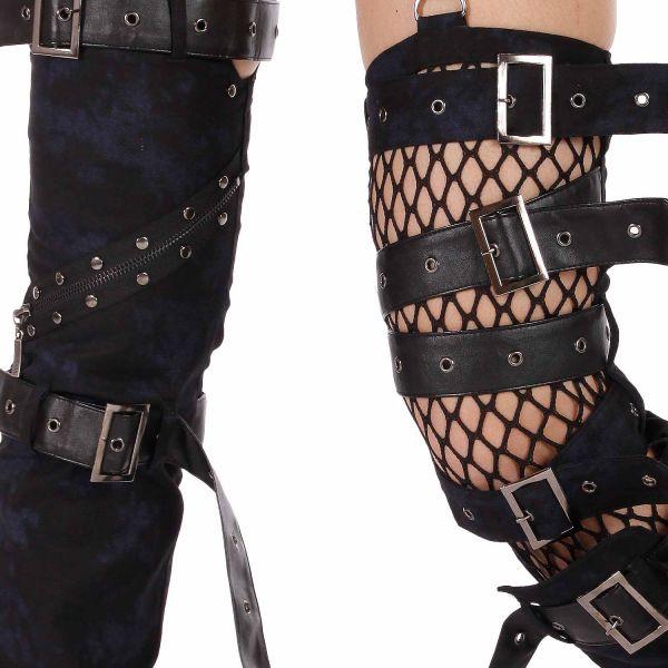 Bondagehose mit abnehmbaren Hosenbeinen und Schnallen