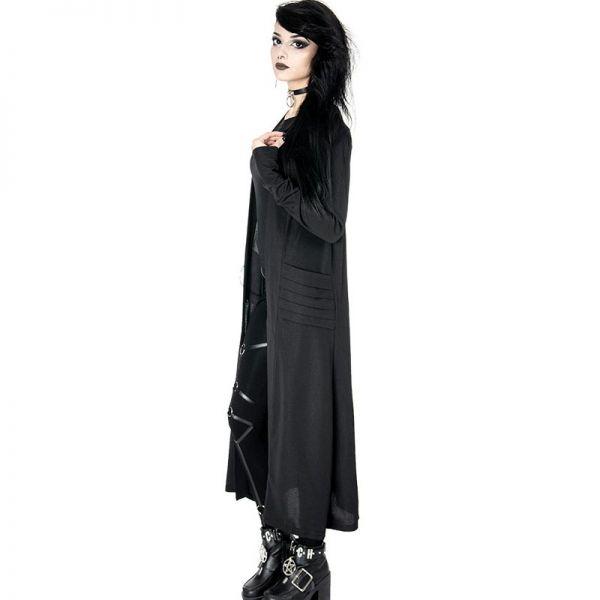 Daily Goth Cardigan Mantel mit Taschen und Metall O-Ring