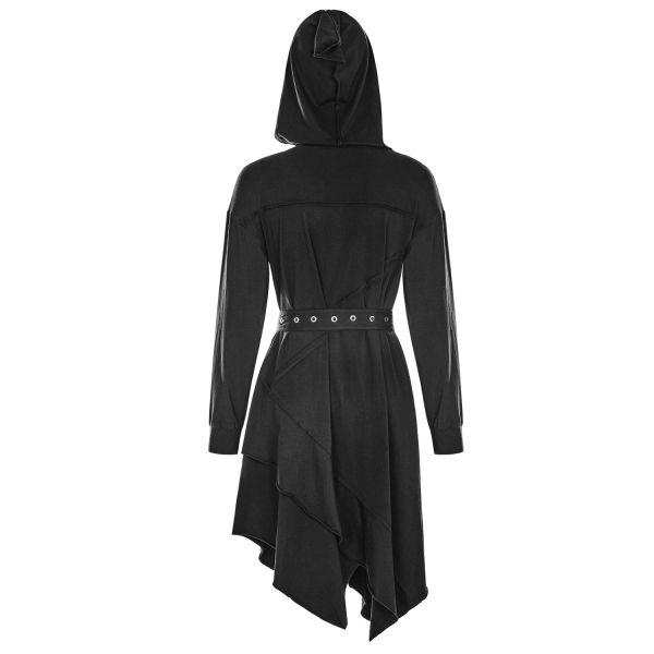 Asymmetrisches Casual Kleid mit Oversize Kapuze