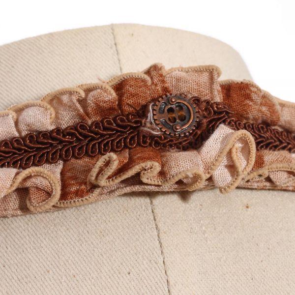 Viktorianisches Rüschenhemd im Batik-Look mit Jabot
