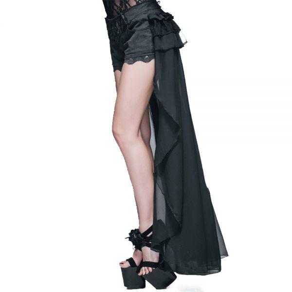 Shorts mit Spitze und Schleppe im Burlesque Look