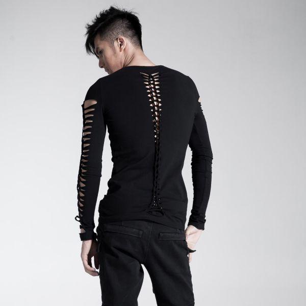 Shirt mit Schlitzen an Arm und Rücken