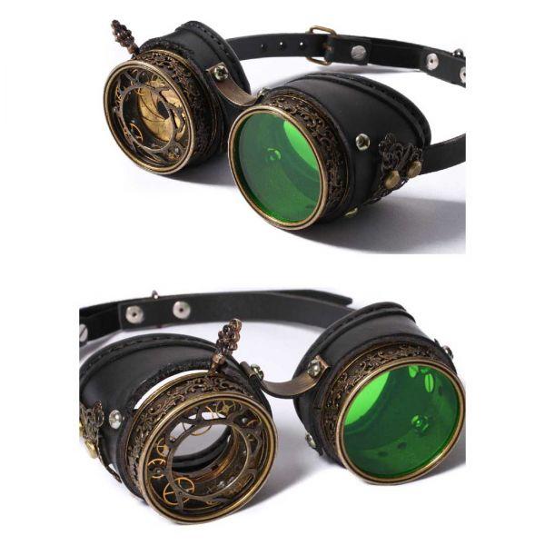 Steampunk Goggles mit Wechselgläsern und Schatulle