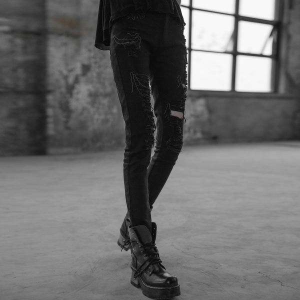 Heavy Destroyed Skinny Jeans