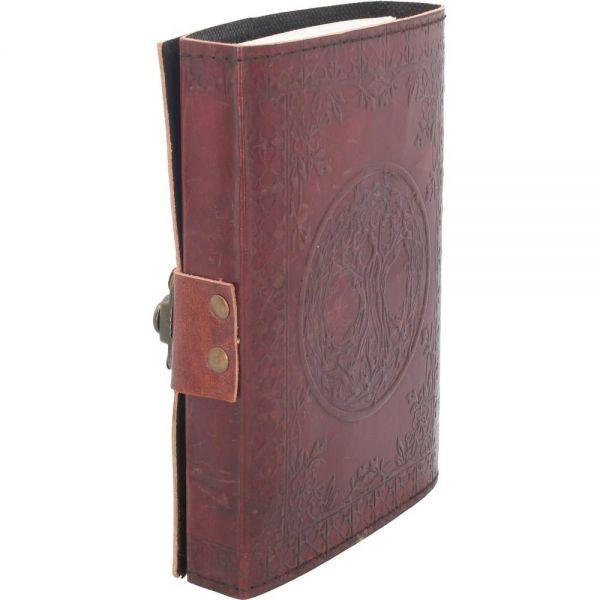 Leder Notizbuch mit Lebensbaum in antikem Design