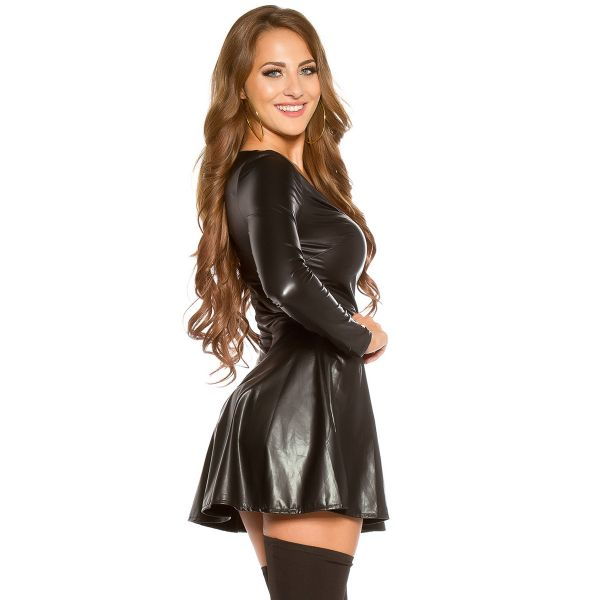 Wetlook Glocken Minikleid