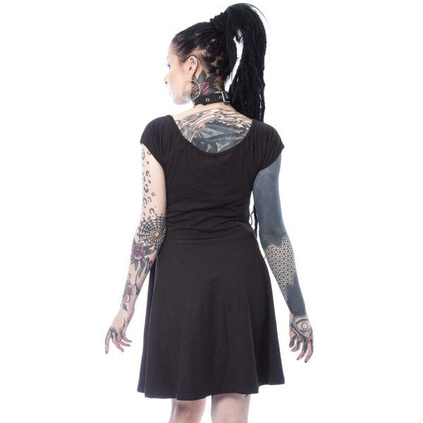 Shirtkleid mit Brustharness und Halsband im Bondage Look