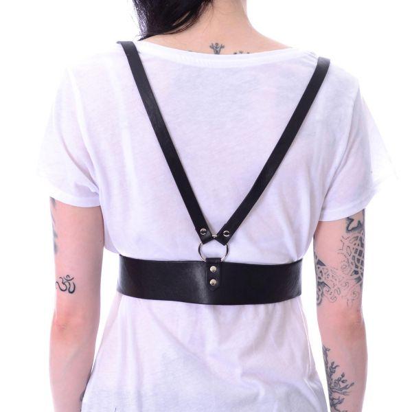 Unterbrust Hosenträger Gürtel im Harness Look