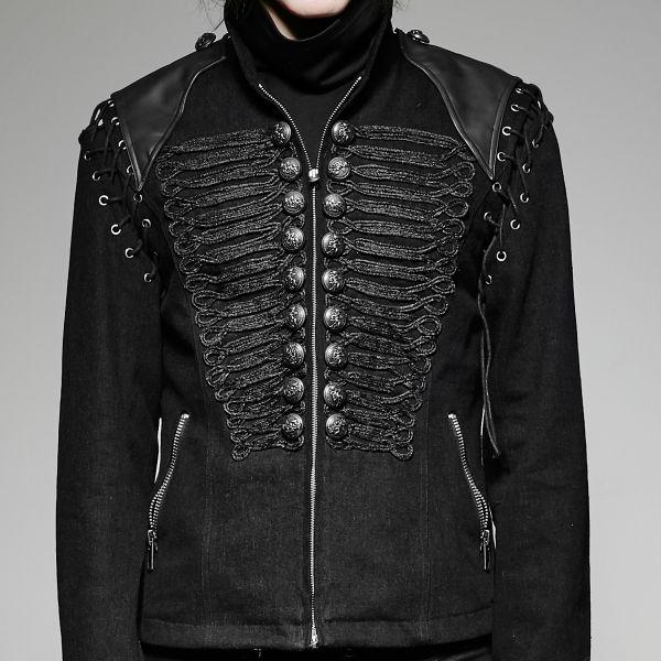 Jacke im Military Gothic Look mit Schnürungen