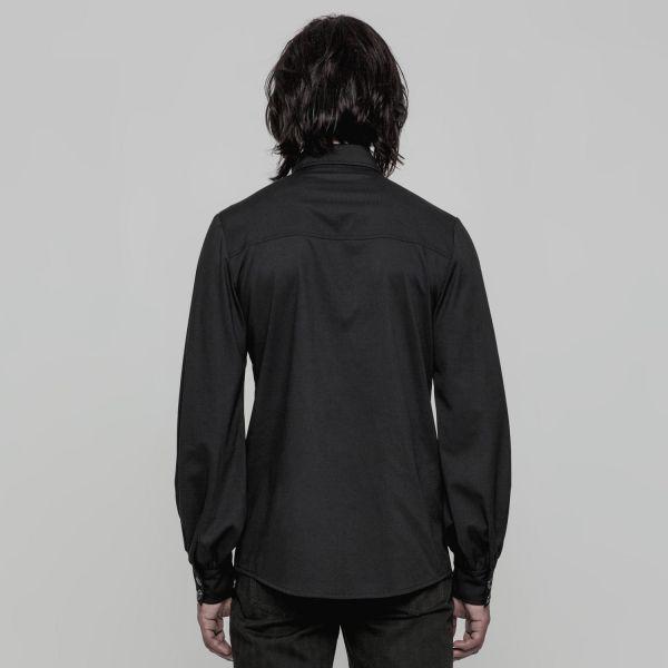Hemd im Uniform Style mit Falten Applikation