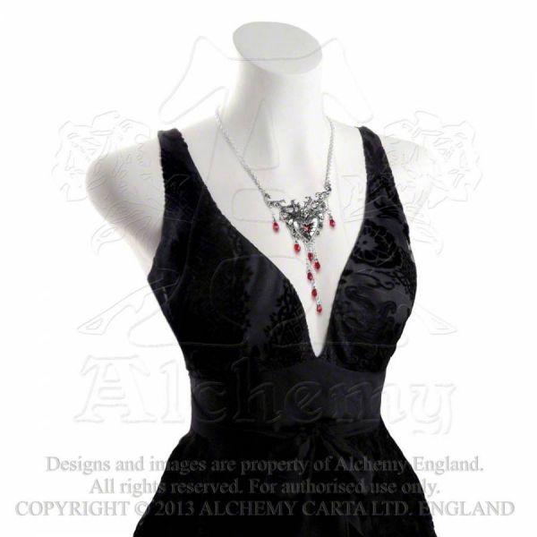 Halskette mit Anhänger - Bleeding Heart