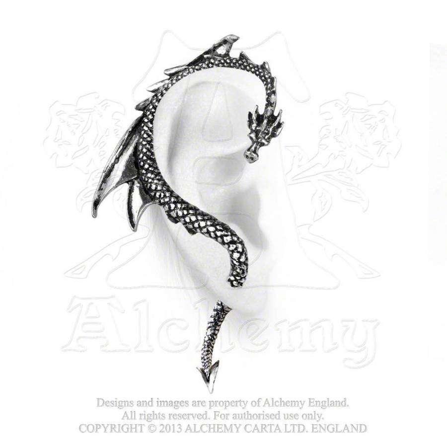 Drachen Ohrring The Dragons Lure Silber Rechts