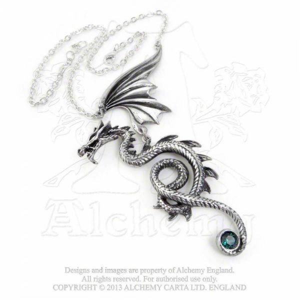 Halskette mit Drachen Anhänger - Bestia Regalis