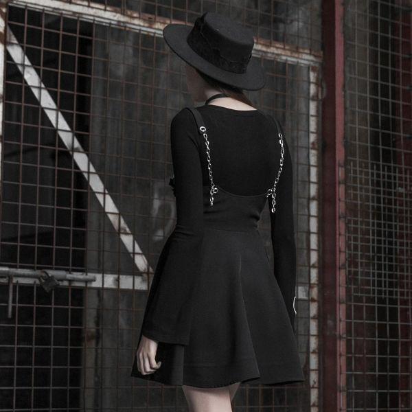 Punk Lolita Glocken Mini im Unterbrust Look mit Ketten