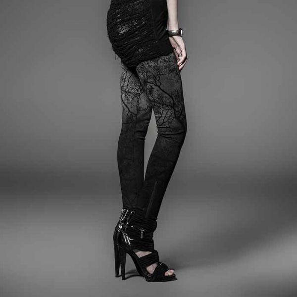 Leggings mit coolem Grey Forest Print