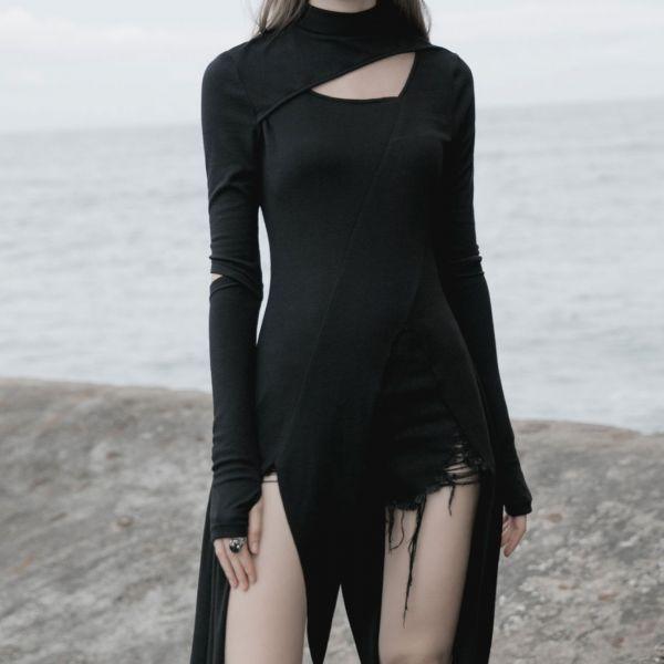 Zipfel Longshirt mit Ärmeln im Armstulpen Look