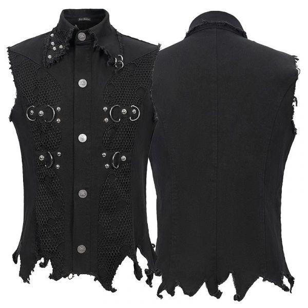Heavy Destroyed Sleeveless Hemd mit ausgefransten Nähten