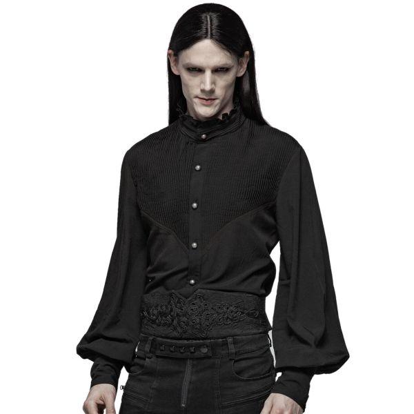 Gothic Hemd mit Zierfalten im Grunge Look