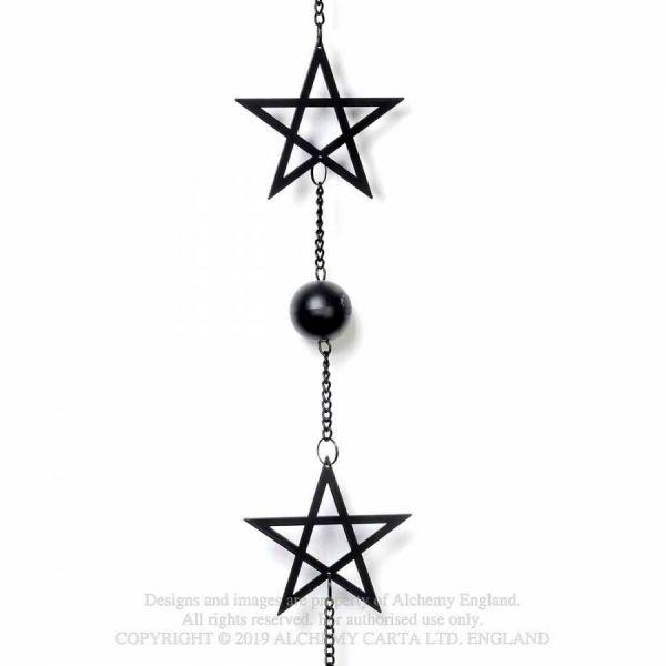 Okkultes Pentagramm Windspiel