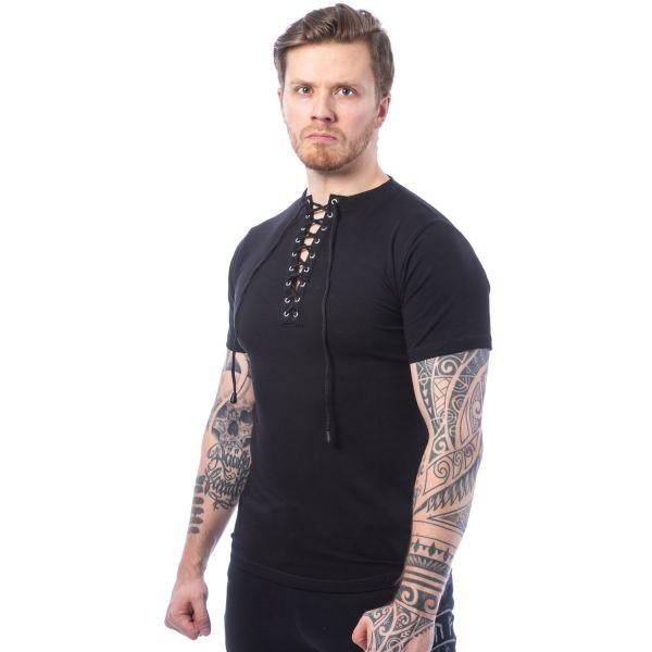 Casual T-Shirt mit Schnürung