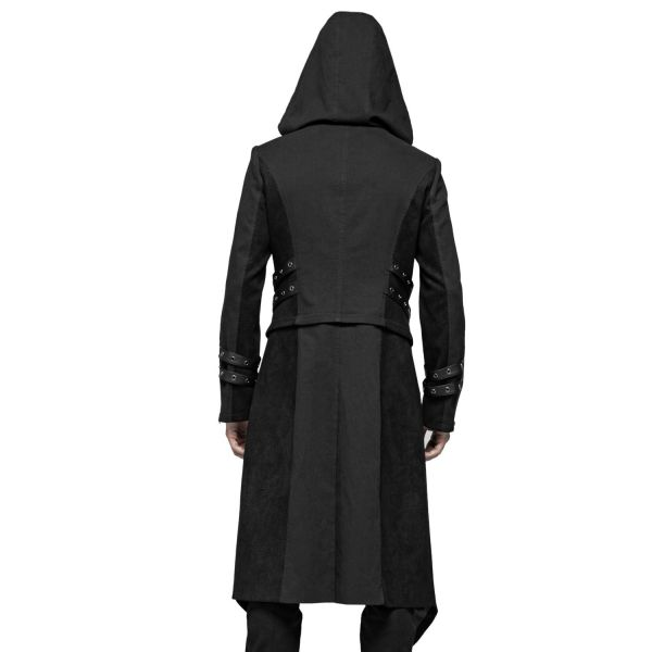 Gothic Kapuzen-Jacke mit abnehmbarer Mantel Schleppe