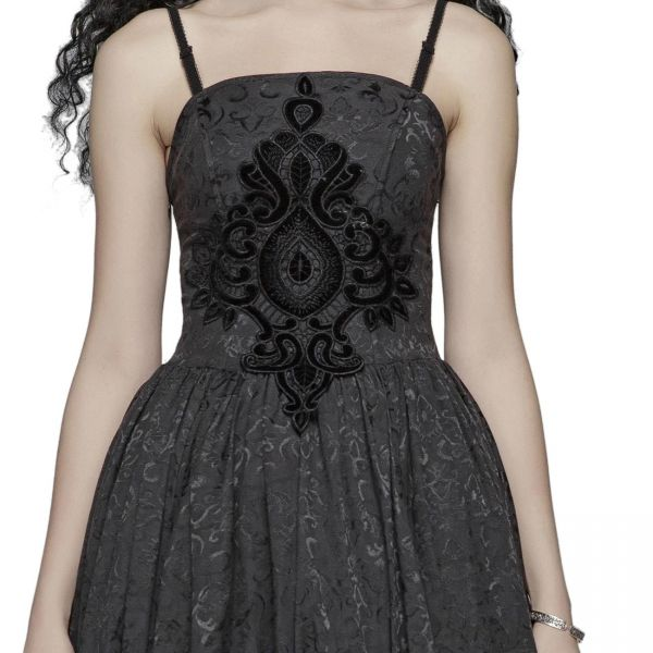 Gothic A-Linie Brautkleid im Jacquard Gotik Stil