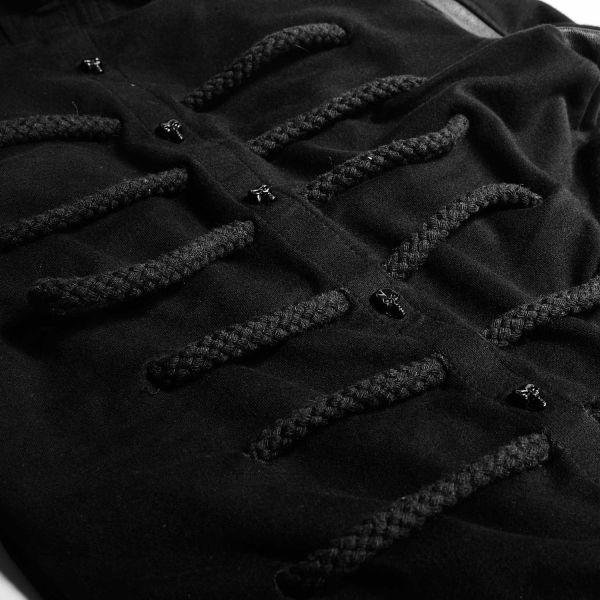 Kapuzenjacke mit Nieten im Vintage Look