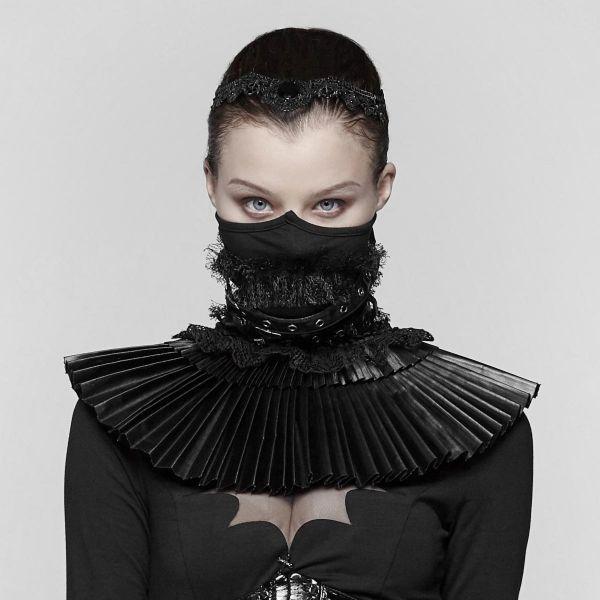 Post Apocalyptic Warrior Rüschenkragen mit Halbmaske