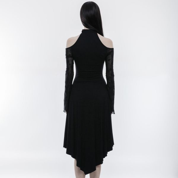 Cold Shoulder Maxikleid in mystischem Gothic Style