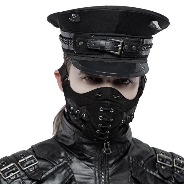 Gesichtsmaske im Rock & Metal Style mit Killernieten