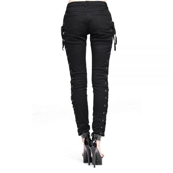 Lace-Up Skinny Hose mit Korsett Seitenschnürungen