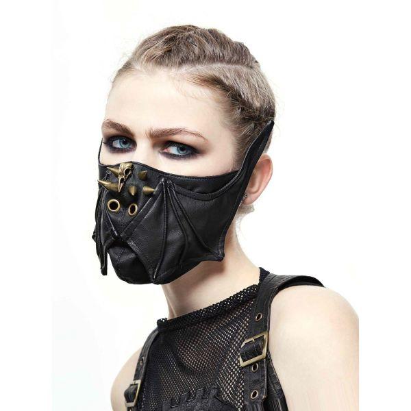 Fledermaus Maske im Post Apocalyptic Leder-Look