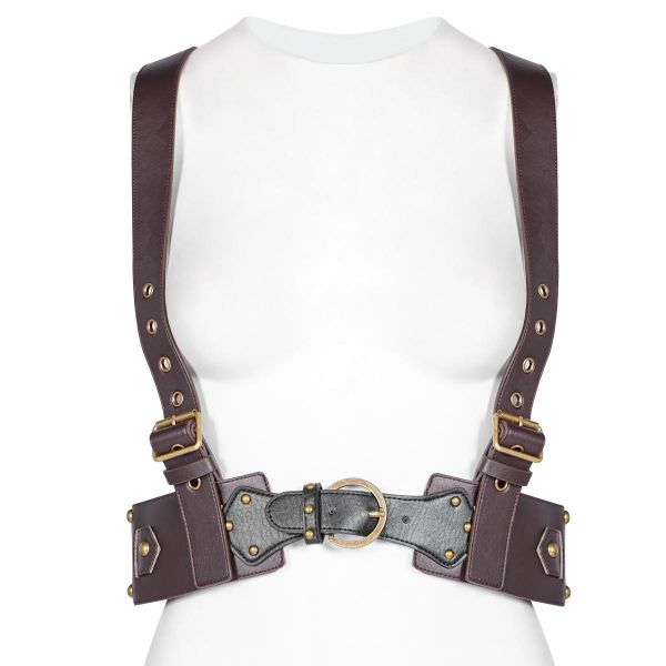 Steampunk Harness Top im Holster Westen-Look