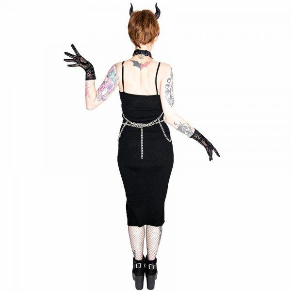 Ketten Harness mit Halsband und Pentagrammen