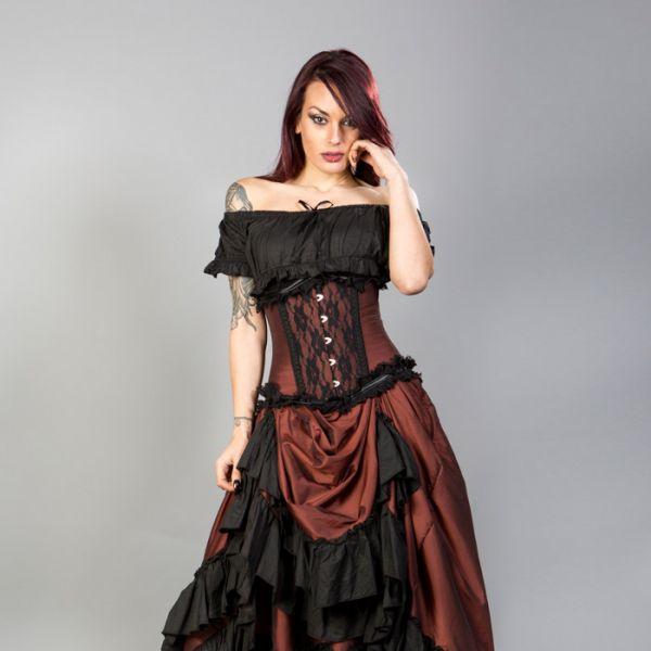 Unterbrust Korsett in viktorianischem Look mit Spitze
