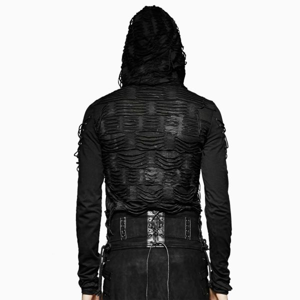 Nu Goth Shirt in zerschlissenem Post Apocalyptic Style