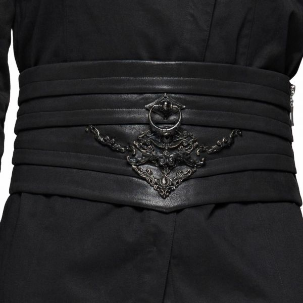 Prunkvoller Taillengürtel im Kummerbund Leder-Look