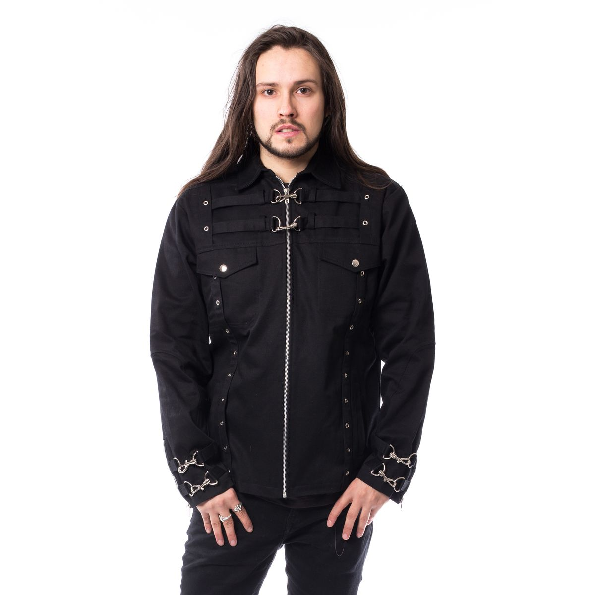 gothic jacke military style herren