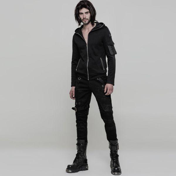 Gothic Style Slim Fit Hose im Punk Vintage Look