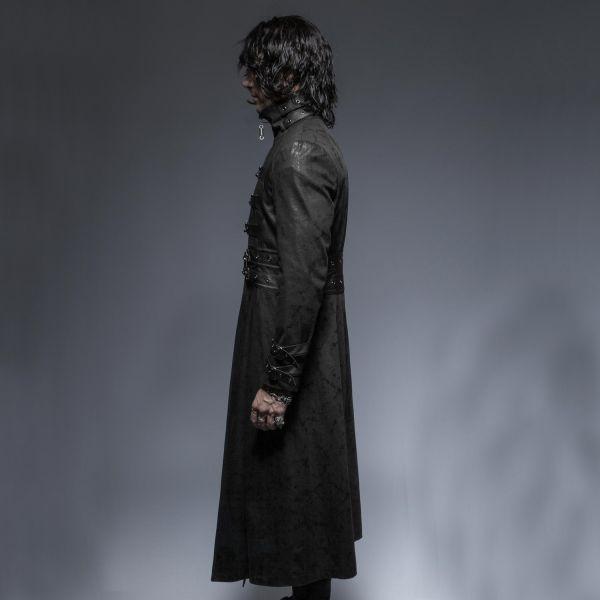 Langer Mantel Schnallen und hohem Kragen im Gothic Stil